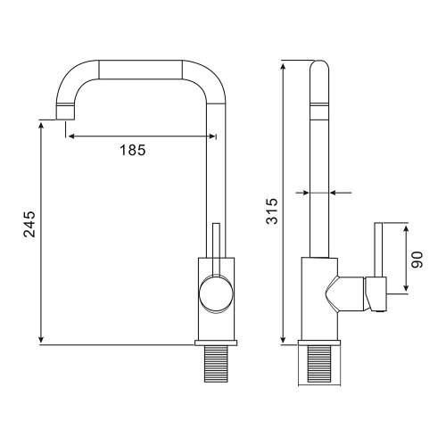 Reginox Harrow Single Lever Kitchen Tap