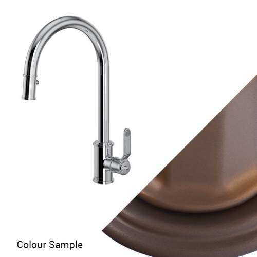 Perrin and Rowe Armstrong 4544HT Single Lever Tap with Pull Down Rinse and Textured Handle