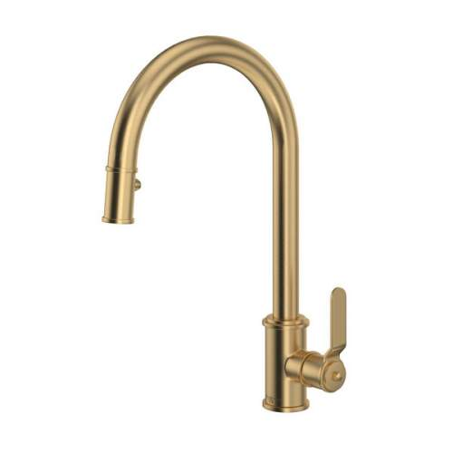 Perrin and Rowe Armstrong 4544HS Single Lever Tap with Pull Down Rinse and Smooth Handle