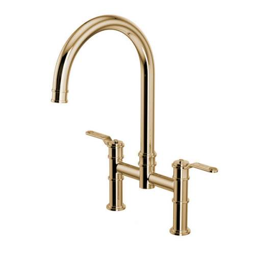 Perrin and Rowe Armstrong 4593HT Bridge Mixer with Textured Handle