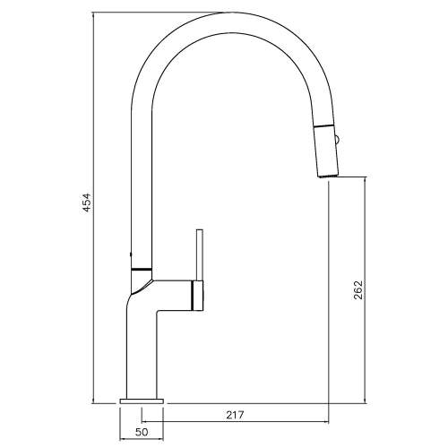 Abode Tubist Single Lever Pull Out Kitchen Tap
