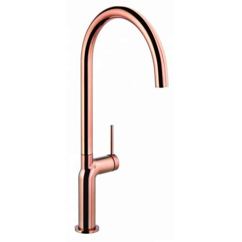 Abode Tubist AT2129 Single Lever Kitchen Tap in Polished Copper