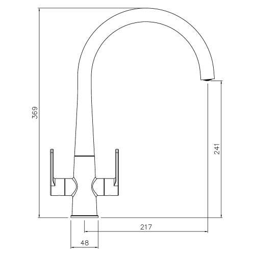 Abode Coniq R Dual Lever Monobloc Kitchen Tap