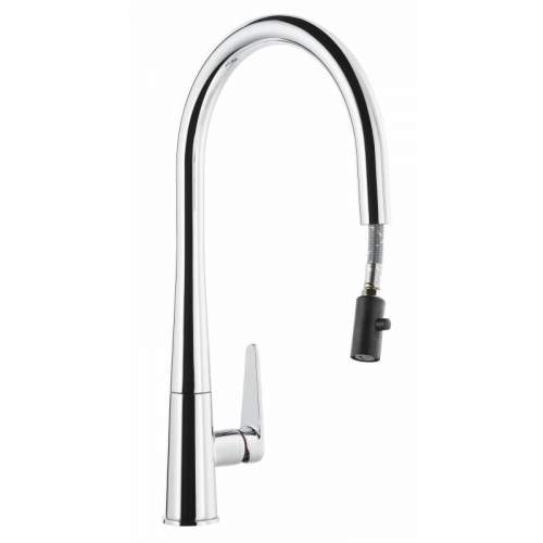 Abode Coniq R AT2119 Single Lever Pull Out Kitchen Tap in Chrome