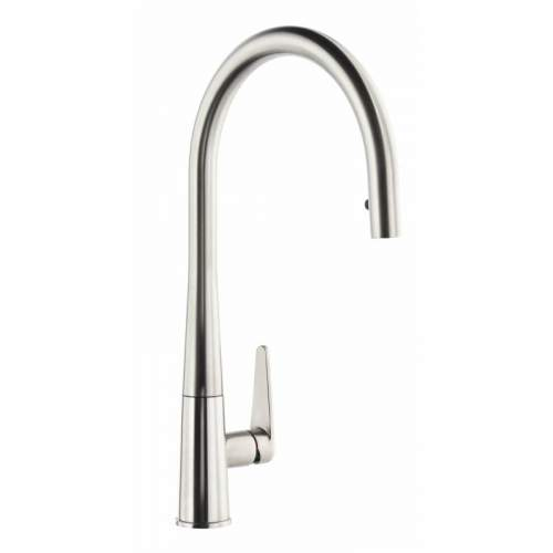 Abode Coniq R AT2120 Single Lever Pull Out Kitchen Tap in Brushed Nickel