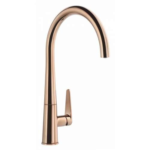 Abode Coniq R AT2118 Single Lever Kitchen Tap in Polished Copper