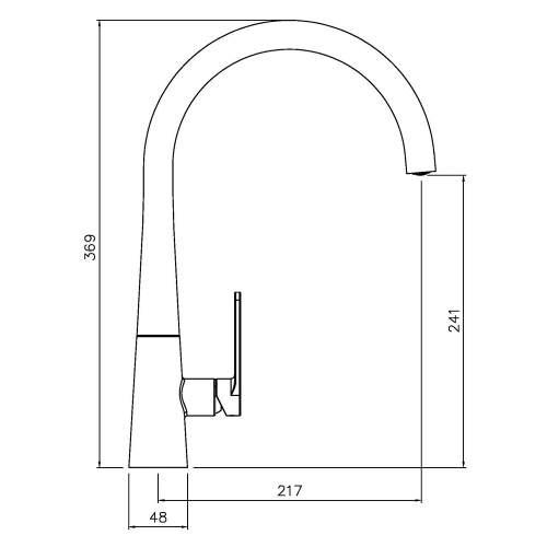 Abode Coniq R Single Lever Kitchen Tap