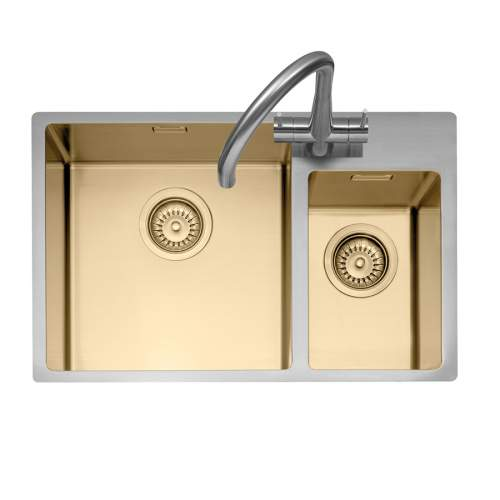 Caple MODE 175 1.5 Bowl Gold and Silver Kitchen Sink
