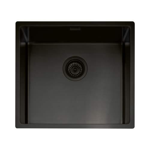 Caple Mode 45 Versatile Single Bowl Sink in Black Steel