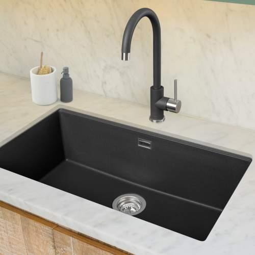 Caple ASPEN Stainless Steel and Granite Kitchen Tap