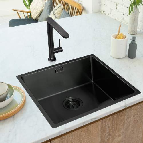 Caple KARNS Single Lever Kitchen Tap in Black Steel