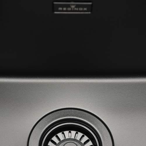 Reginox New York 40x40 Single Bowl Sink in Jet Black