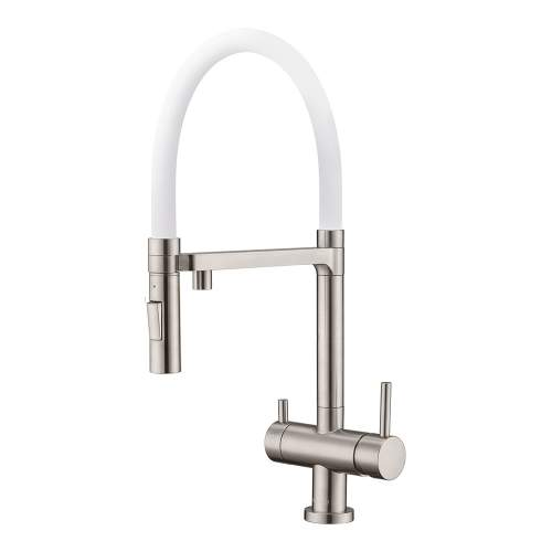 Clearwater Bellatrix Brushed Nickel Professional Filter Tap with Detachable Spout