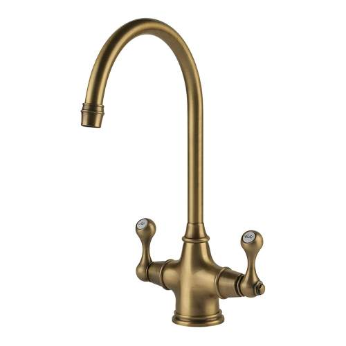 Clearwater Coriolis Traditional Twin Lever Kitchen Tap
