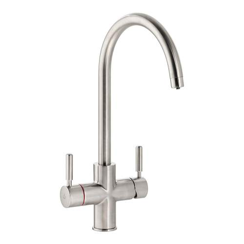 Bluci TreAcqua-C 3 in 1 Hot Tap with Swan Spout in Brushed Nickel