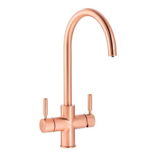 Bluci TreAcqua-C 3 in 1 Hot Tap with Swan Spout in Urban Copper