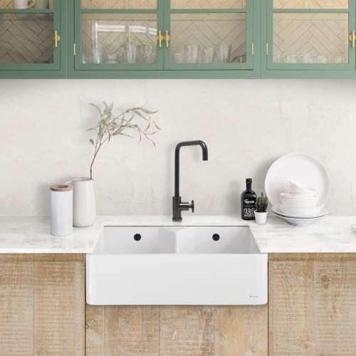 Caple CHEPSTOW2 Double Bowl Ceramic Sink