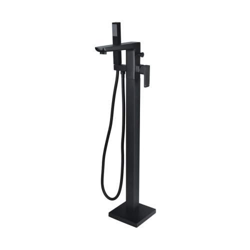Bathrooms to Love Finissimo Matt Black Floor Standing Bath Shower Mixer