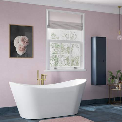 Bathrooms to Love Finissimo Brushed Brass Floor Standing Bath Shower Mixer