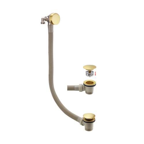 Bathrooms to Love Brushed Brass Bath Filler Waste & Overflow