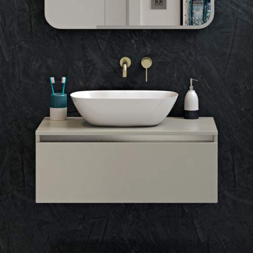 Bathrooms to Love Pesca Brushed Brass Mono Wall Mounted Basin Tap