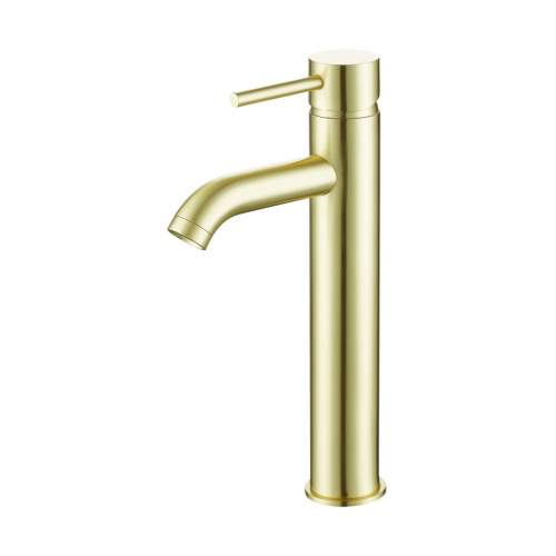 Bathrooms to Love Pesca Brushed Brass Mono Tall Basin Tap