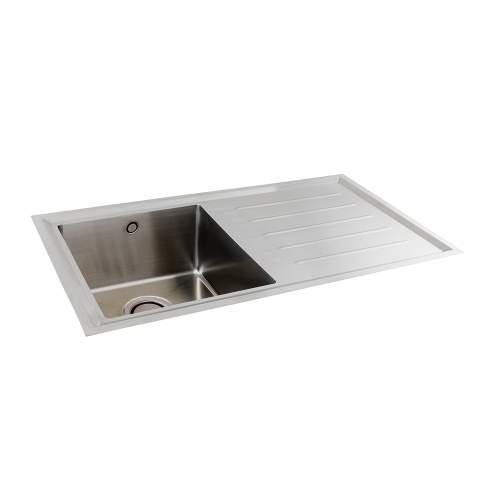Carron Phoenix  Vela 100 Single Bowl Flushmount Kitchen Sink