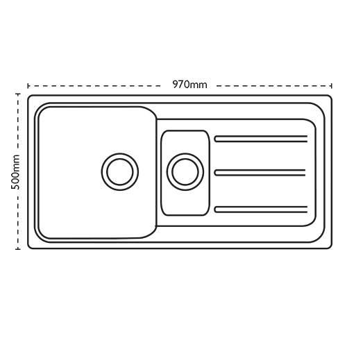 Carron Phoenix Columba 150 Inset 1.5 Bowl Composite Kitchen Sink