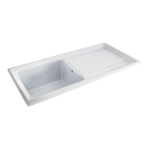 Carron Phoenix Sienna 100 Inset Single Bowl Ceramic Kitchen Sink