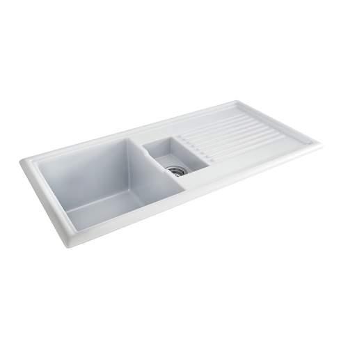 Carron Phoenix Sienna 150 Inset 1.5 Bowl Ceramic Kitchen Sink