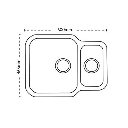 Carron Phoenix Zeta 150u 1.5 Bowl Undermount Kitchen Sink