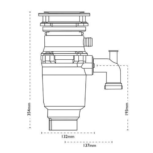 Carron Phoenix Carronade Elite CE-50 Waste Disposal Unit