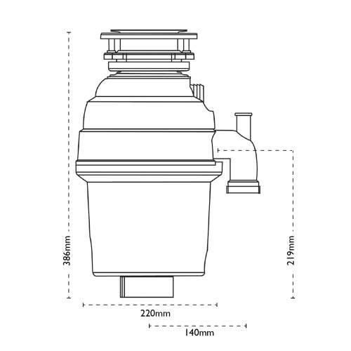 Carron Phoenix Carronade Elite CE-75 Waste Disposal Unit