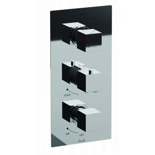 Abode Zeal Concealed Thermostatic Shower Valve (2 Independent Exits) in Chrome