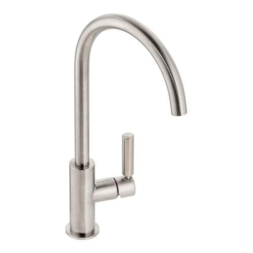 Abode Globe Single Lever Kitchen Tap in Brushed Nickel AT2147