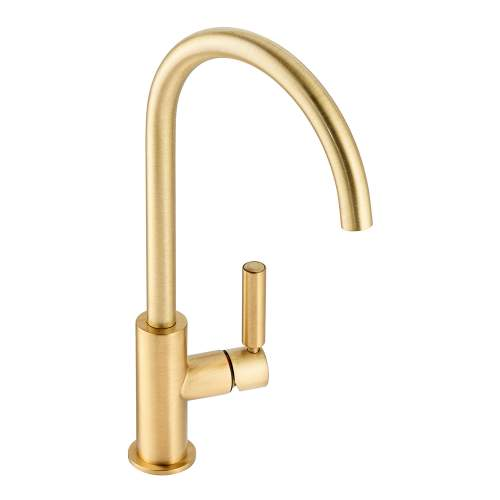 Abode Globe Single Lever Kitchen Tap in Brushed Brass AT2148