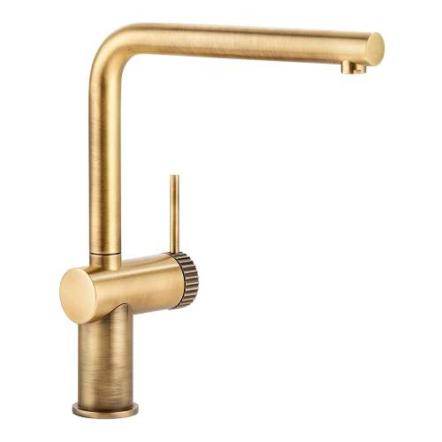 Abode Fraction Single Lever Kitchen Tap in Brushed Brass AT2154