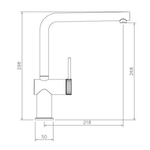 Abode Fraction Single Lever Kitchen Tap