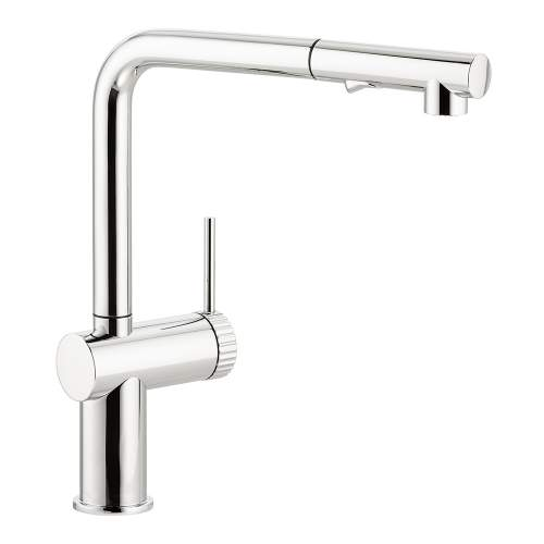 Abode Fraction Single Lever Pull Out Spray Kitchen Tap in Chrome AT2156