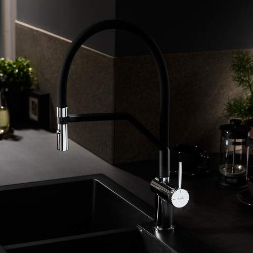 Abode Fraction Professional Pull Around With Spray Kitchen Tap