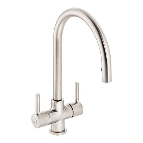 Abode Zest Monobloc Pull Out Hose Kitchen Tap in Brushed Nickel AT2165