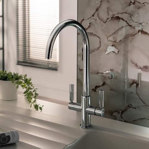 Abode Globe Aquifier Twin Lever Water Filter Kitchen Tap
