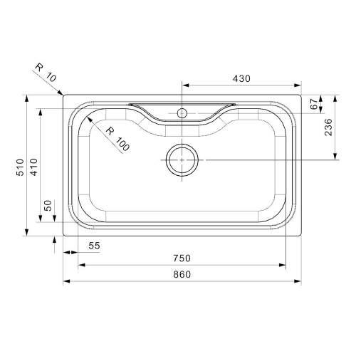 Reginox JUMBO Single Large Bowl Kitchen Sink