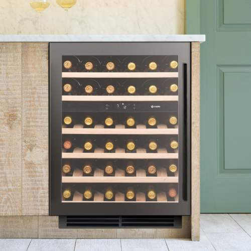 Caple Sense Wi6135GM Gunmetal Undercounter Dual Zone Wine Cabinet