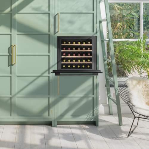 Caple Sense WC6100GM Gunmetal  In-Column Single Zone Wine Cabinet