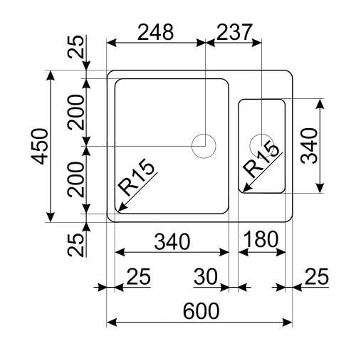 Smeg Mira VSTR4018-2 Undermount 1.5 Bowl Sink