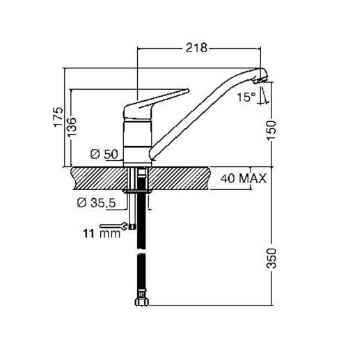 Smeg MF11CR2 Single Lever Kitchen Tap