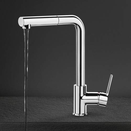 Smeg MID1CR Single Lever Pull Out Hose Kitchen Tap