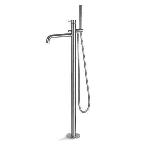 Vema Tiber Stainless Steel Floor Standing Bath-Shower Mixer
