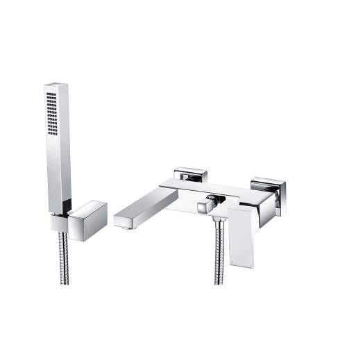 Bluci Quadro Chrome Wall Mounted Shower Mixer & Shower Kit